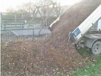 Garden woodchip mulch
