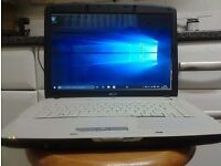 window's 10 laptop + charger and good battery ( acer )