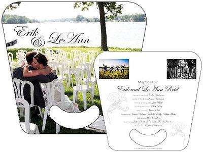Wedding / Anniversary / Event Personalized Fans / Program / Keepsake Free Design