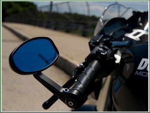 Quality Billet Aluminium Handlebar Bar End Mirrors Suitable For Kawasaki Z1000