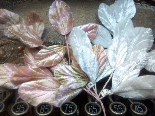 Vintage Millinery 1940s Velvet Leaves 1 Spray Made in Japan