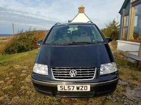 VW Sharan sport for sale MOT till 29th January 2017 alloy wheels 6 speed gearbox