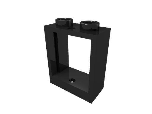 10 x [neu] LEGO Fensterrahmen 1 x 2 x 2 ohne Scheibe - schwarz - 60592