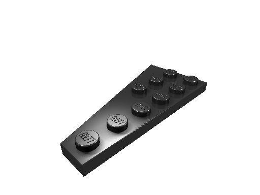 10 x [neu] LEGO Keilplatte 6 x 3 rechts - schwarz - 54383