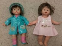Two Fisher Price Little Mommy Dolls