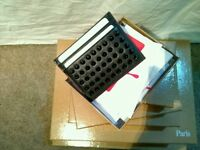 Christian louboutin card holder black with black spikes