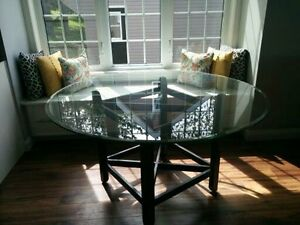 """54"""" Round Glass Table"""