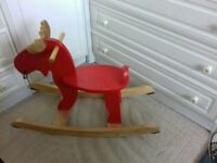 Wpoden Ikea rocking moose