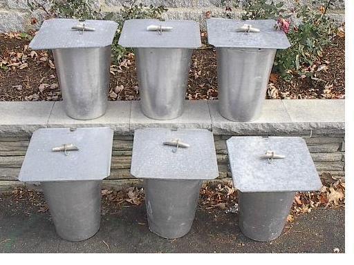 6 MAPLE SYRUP Aluminium Sap BUCKETS + 6 Lids Covers + 6 Taps Spouts Spiles