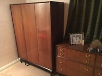 G-plan-e-gomme wardrobe, 1952 to 1965. Original and good condition