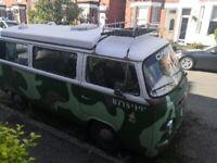 VW type 2 1972 bay window campervan
