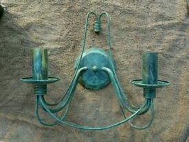 Antique green metal Wall Lights (6 available)