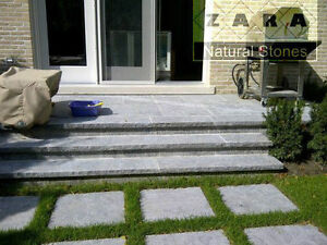 Silver Grey Wall Coping Stone Natural Stone Coping Step Treads