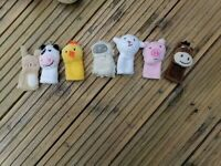 Puppet theatre and shop with till and puppets