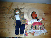 Wooden Puppets  Vintage