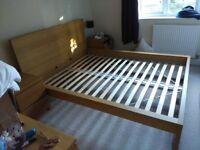 Ikea Malm King Size Bed (High frame) Oak Veneer