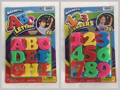Magnetic ABC 123 Alphabet Letters & Numbers Learning Refrigerator Fridge Magnets