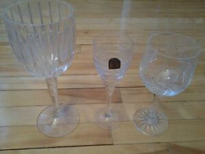 3 CRYSTAL GLASSES CHAMPAGNE WINE DA VINCI ITALY SHOOTER  3 for 5