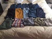 Bundle trousers/ shorts, 15 items. Individual £2.50 Bundle £30. See description for sizes etc