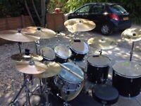 8 Piece Mapex M Birch Drum Kit with Extras