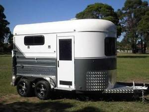 2 Angle Load Horse Float Trailer - 2017 White Horse 2A Grand Milperra Bankstown Area Preview