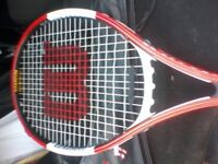 AUTOGRAPHED WILSON TITANIUM ROGER FEDERER TENNIS RACKET / TOP GIFT / PHOTO PROOF OF AUTOGRAPH!