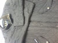 "BARBOUR QUILTED MENS COAT - SIZE: XL (46"" CHEST) COLOUR: GREEN - VERY SMART DESIGNER JACKET"