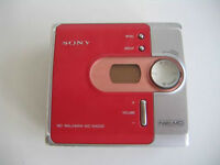 Sony Portable Minidisc Player Walkman/Red Hard to Find
