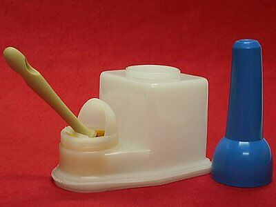 Non Spill Glue Pot and Brush Cement Keeper Anti Evaporation Leather 0.4l by AJS