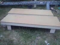 Small single beds from static caravan