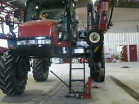 High clearance sprayer jack stand