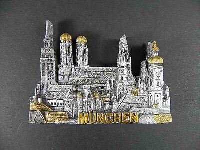 Magnet München Munich Marienplatz ,Polyresin,Souvenir Germany Deutschland,NEU.