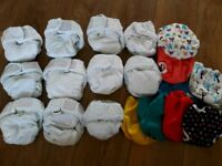 Little lambs size one cloth nappy bundle