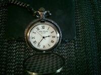 W M Widdop Men's Antique Gold Colour Pocket Watch (Golf Theme)