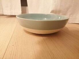 Blue Ceramic Serving Salad Bowl