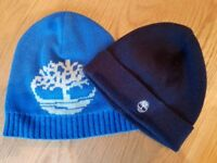 Timberland boys pair hats age 2-3 (mint condition)