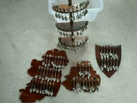 Set of 84 Collectible Souvenir Spoons (display racks included)