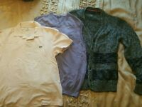 Lacoste Tommy Hilfiger Wolsey mens bundle size M and L