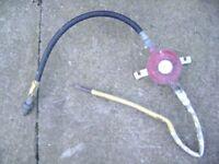LPG propane gas regulator red bottle BOC CALOR FLOGAS cooker BBQ barbeque patio heater etc