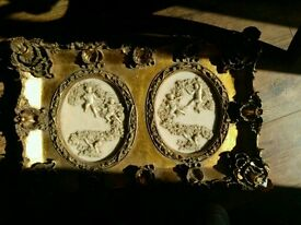 Art, Gold frame, Cherubs