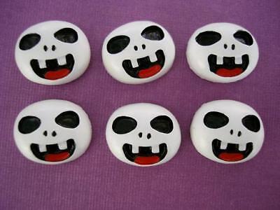 20 Cute Halloween Ghost Face Resin Flatback Button/craft/embellishment/bow B150