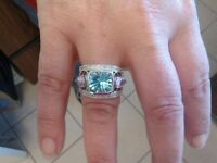 Topaz/Amethyst/Diamond Ring for sale by owner