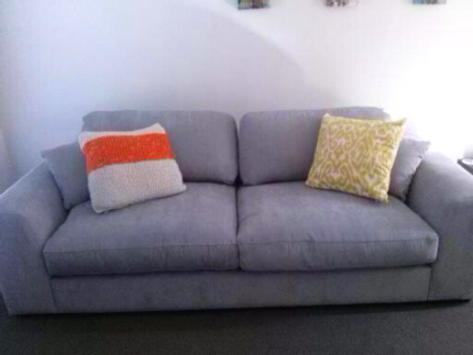 Beautiful and comfortable grey fabric 3 seater couch