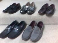 5 PAIRS OF MENS DESIGNER LOAFERS - 3 PAIRS OF LOAFERS ARE BRAND NEW - ALL SIZE UK9 (I PAID £650.00)