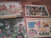 Wooden and thick cardboard Puzzles