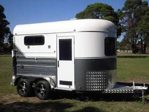 2 Angle Load Horse Float Trailer - 2016 White Horse 2A Grand. Condell Park Bankstown Area Preview