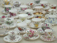 Wanted: Buying large collections of bone china cups and saucers