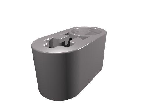 10 x [neu] LEGO Technik Liftarm 1 x 2 mit Pin/Achsloch - dunkel-blaugrau - 60483