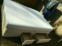 Double divan bed with 4 drawers and mattress