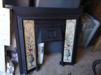 Very heavey thick cast iron fire inset